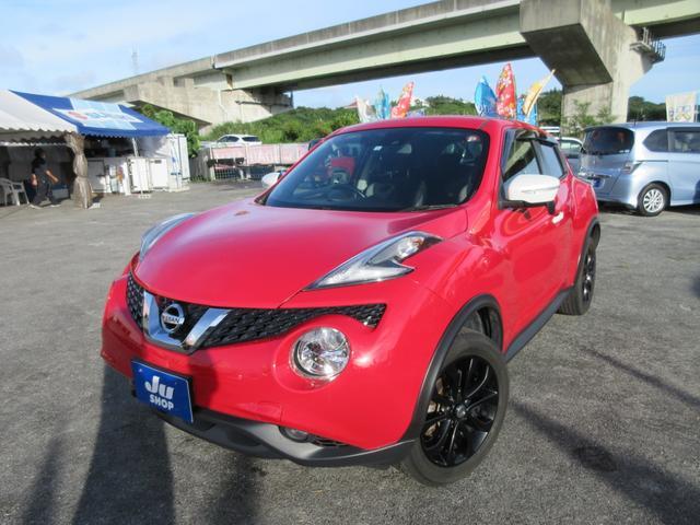 沖縄県の中古車ならジューク 15RX Vセレクション パーソナライゼーション 車検付き・保証2年付き・ナビ・Bluetooth付き