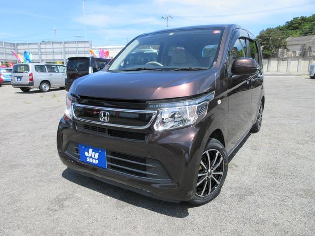 沖縄の中古車 ホンダ N-WGN 車両価格 82万円 リ済込 2015(平成27)年 2.8万km ブラウン
