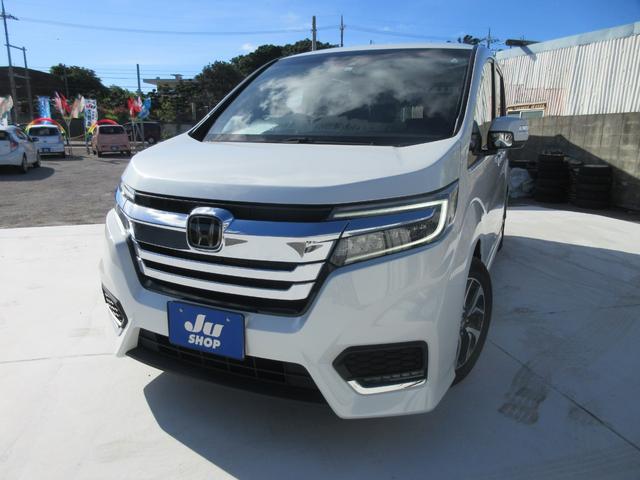 沖縄の中古車 ホンダ ステップワゴンスパーダ 車両価格 309万円 リ済込 2020(令和2)年 0.6万km パールホワイト