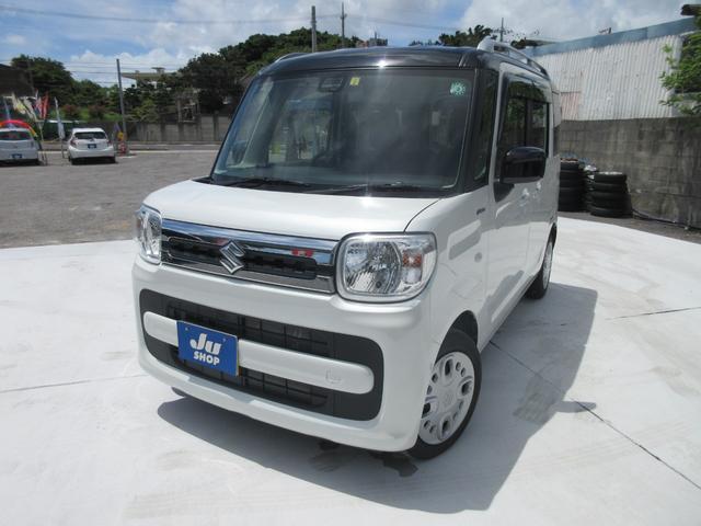 沖縄県の中古車ならスペーシア ハイブリッドX 両側電動スライドドア・ナビ・リアカメラ・Bluetooth付き・ETC付き