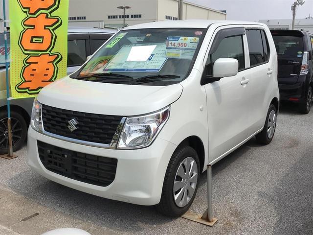沖縄の中古車 スズキ ワゴンR 車両価格 70万円 リ済別 平成27年 2.3万km パールホワイト