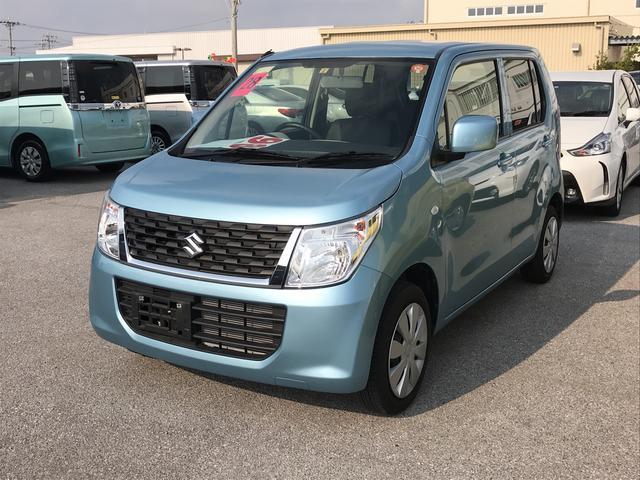 沖縄の中古車 スズキ ワゴンR 車両価格 86.4万円 リ済別 平成28年 0.4万km ライトブルーM
