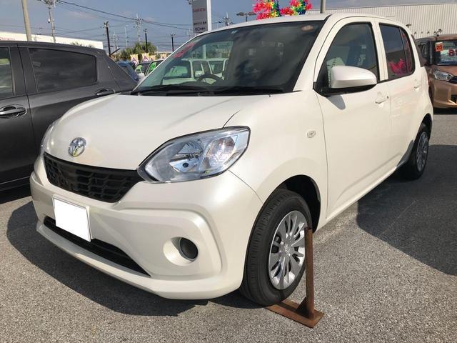 沖縄の中古車 トヨタ パッソ 車両価格 125万円 リ済別 平成30年 0.5万km パールホワイト