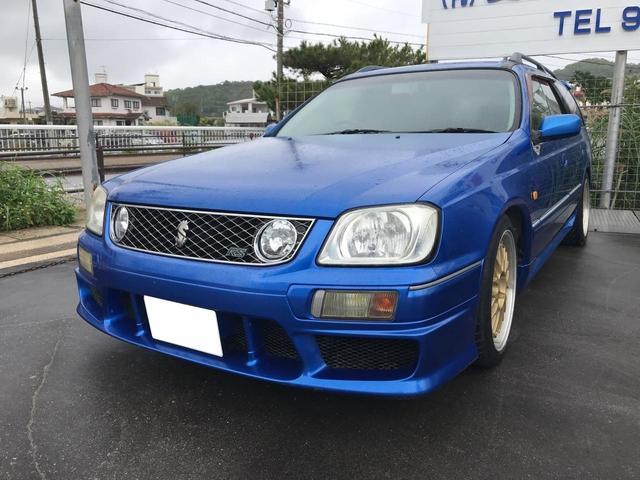 沖縄の中古車 日産 ステージア 車両価格 ASK リ済込 平成12年 13.5万km ブルー