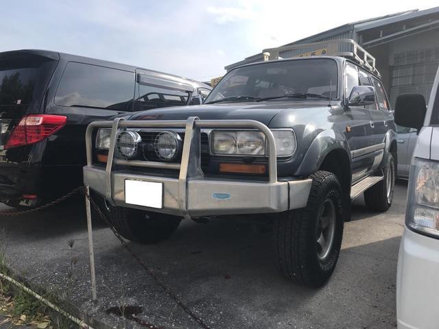沖縄の中古車 トヨタ ランドクルーザー80 車両価格 96万円 リ済込 1991(平成3)年 35.8万km 紺