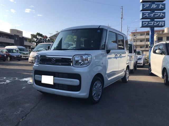 沖縄の中古車 スズキ スペーシア 車両価格 138万円 リ済込 2018(平成30)年 0.4万km パール