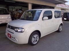 沖縄の中古車 日産 キューブ 車両価格 34万円 リ済込 平成24年 7.4万K パール