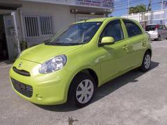 沖縄の中古車 日産 マーチ 車両価格 49万円 リ済込 平成22年 3.2万K Lグリーン