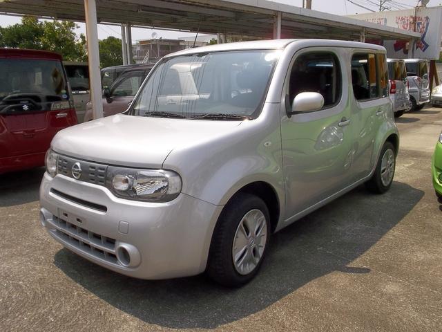 沖縄の中古車 日産 キューブ 車両価格 56万円 リ済込 平成25年 3.1万km シルバー
