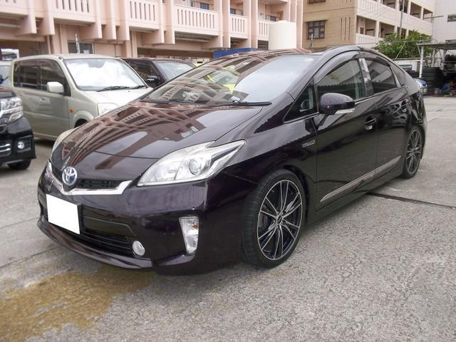 沖縄の中古車 トヨタ プリウス 車両価格 79万円 リ済込 2012(平成24)年 10.1万km ダークパープル