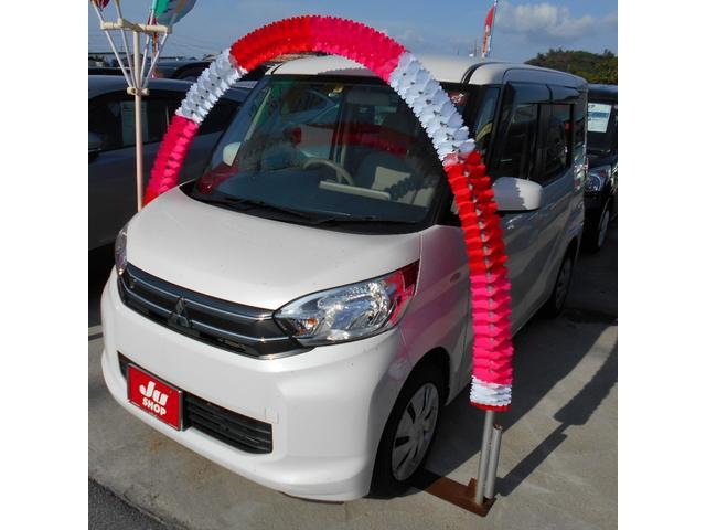 沖縄の中古車 三菱 eKスペース 車両価格 62万円 リ済込 2015(平成27)年 3.7万km ホワイト