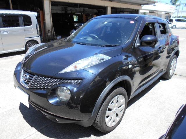沖縄の中古車 日産 ジューク 車両価格 64万円 リ済込 2012(平成24)年 6.9万km ブラック