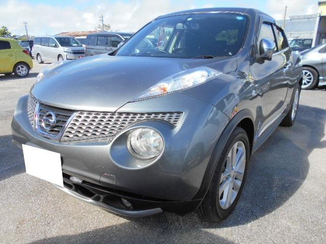 沖縄の中古車 日産 ジューク 車両価格 60万円 リ済込 2011(平成23)年 6.4万km グレー