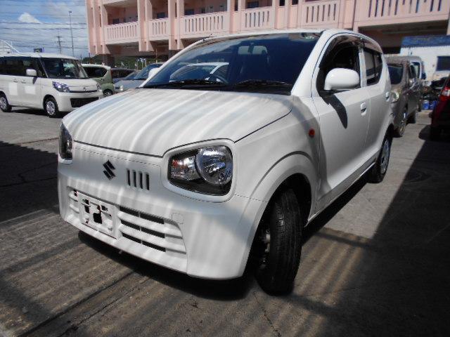 沖縄の中古車 スズキ アルト 車両価格 56万円 リ済込 2020(令和2)年 0.2万km ホワイト