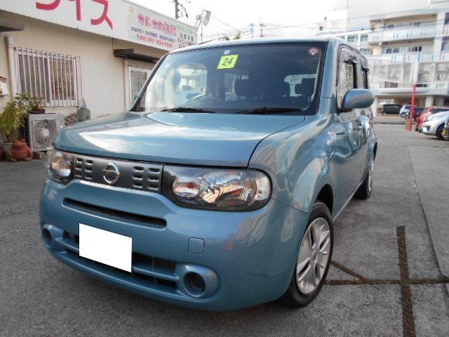沖縄の中古車 日産 キューブ 車両価格 33万円 リ済込 2012(平成24)年 6.1万km ライトブルー