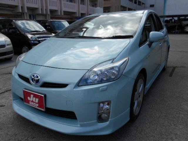 沖縄の中古車 トヨタ プリウス 車両価格 54万円 リ済込 2010(平成22)年 9.1万km グリーン