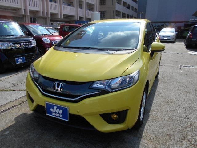 沖縄の中古車 ホンダ フィット 車両価格 44万円 リ済込 2013(平成25)年 6.7万km イエロー