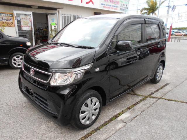 沖縄の中古車 ホンダ N-WGN 車両価格 56万円 リ済込 2015(平成27)年 5.9万km ブラック