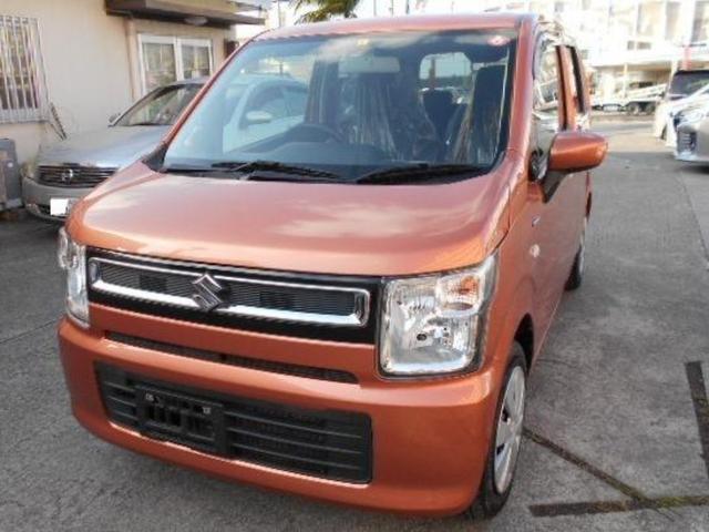 沖縄の中古車 スズキ ワゴンR 車両価格 72万円 リ済込 2018(平成30)年 7.0万km オレンジ