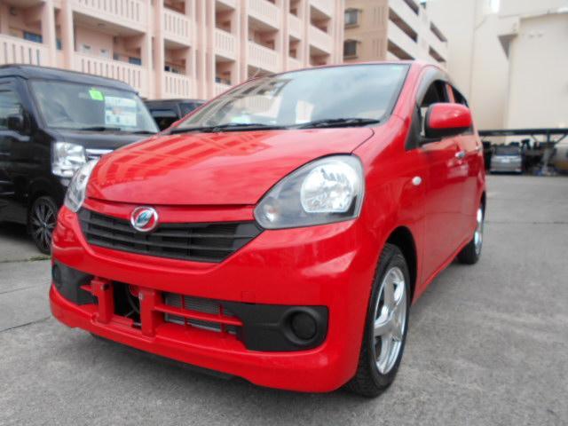 沖縄の中古車 ダイハツ ミライース 車両価格 54万円 リ済込 2016(平成28)年 4.2万km レッド