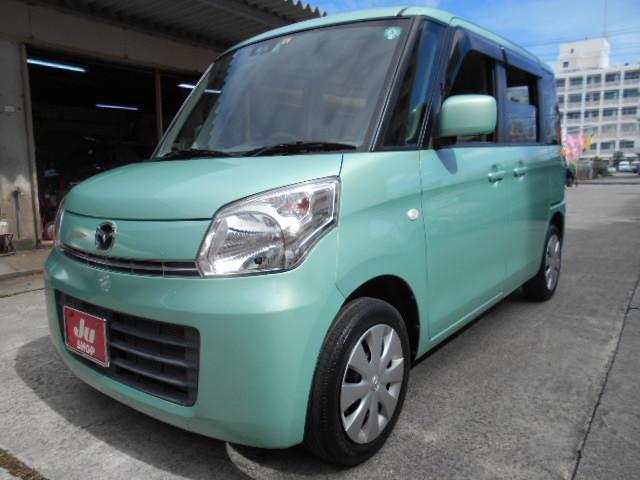 沖縄の中古車 マツダ フレアワゴン 車両価格 50万円 リ済込 2014(平成26)年 7.2万km グリーン