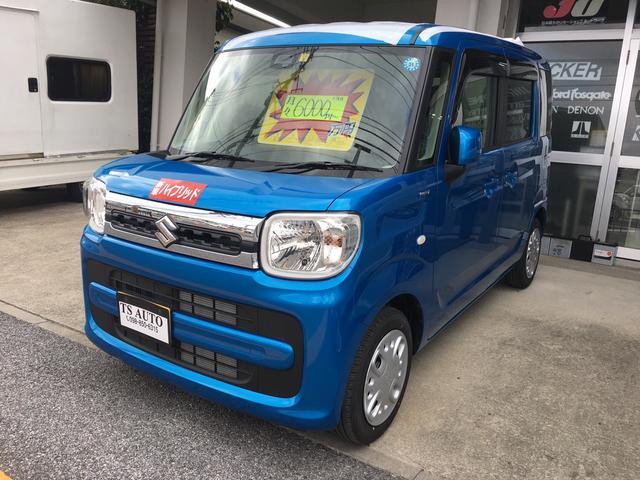沖縄の中古車 スズキ スペーシア 車両価格 155万円 リ済込 2018(平成30)年 7km ブルー