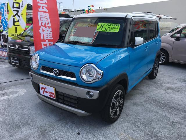 沖縄の中古車 マツダ フレアクロスオーバー 車両価格 99.8万円 リ済込 平成26年 1.7万km ライトブルー