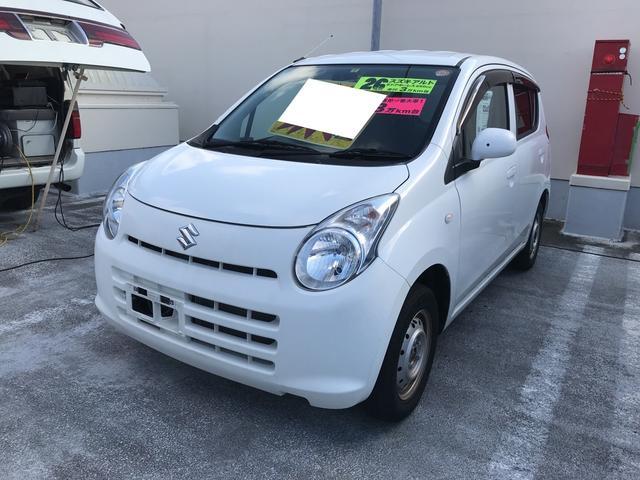 沖縄の中古車 スズキ アルト 車両価格 29万円 リ済込 平成26年 3.1万km スペリアホワイト