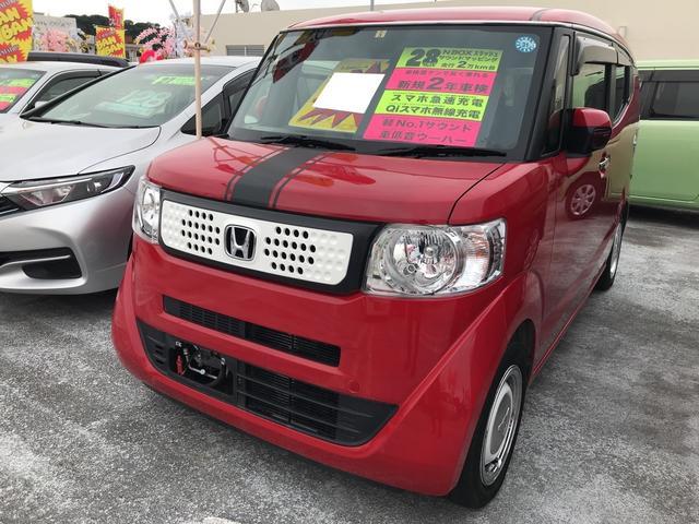 沖縄の中古車 ホンダ N-BOXスラッシュ 車両価格 139万円 リ済別 2016(平成28)年 2.2万km ミラノレッドII