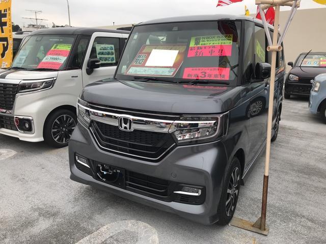 沖縄県の中古車ならN-BOXカスタム G・Lホンダセンシング 軽自動車 衝突被害軽減システム