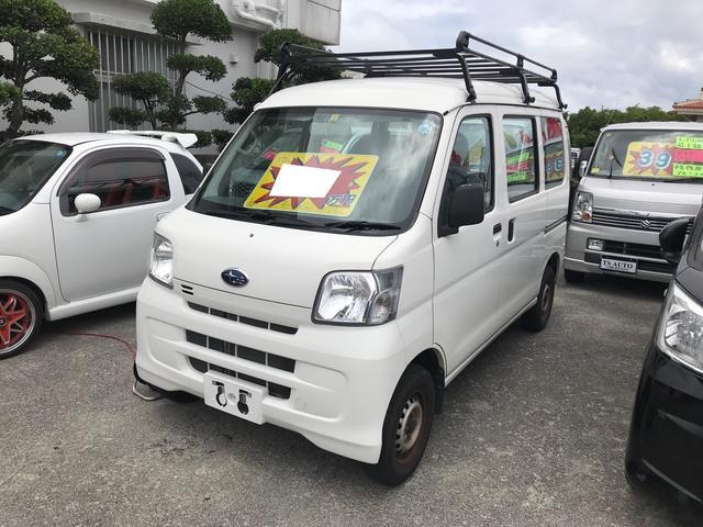 沖縄県の中古車ならサンバーバン AC AT 軽バン ナビ 両側スライドドア オーディオ付