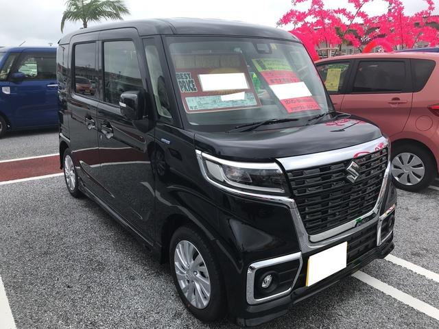 沖縄の中古車 スズキ スペーシアカスタム 車両価格 205.8万円 リ済別 2019(令和1)年 4km ブルーイッシュブラックパール3