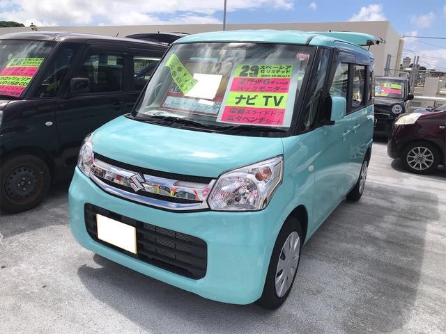 沖縄県の中古車ならスペーシア Gリミテッド ナビ 軽自動車 衝突被害軽減システム CVT