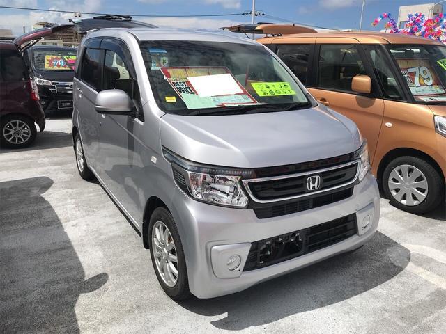 沖縄県の中古車ならN-WGN G・ターボパッケージ ナビ 軽自動車 ETC シルバー