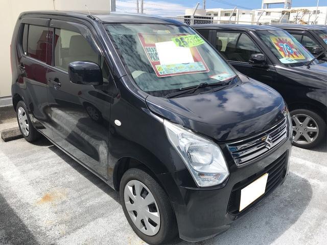 沖縄の中古車 スズキ ワゴンR 車両価格 49万円 リ済別 2013(平成25)年 9.6万km ブルーイッシュブラックパール3
