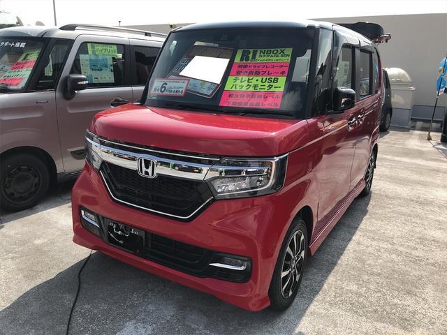 沖縄県の中古車ならN-BOXカスタム G・Lホンダセンシング ドライブレコーダー ABS 盗難防止