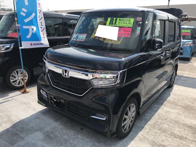 沖縄県の中古車ならN-BOXカスタム G・Lホンダセンシング ABS 盗難防止 レーンアシスト