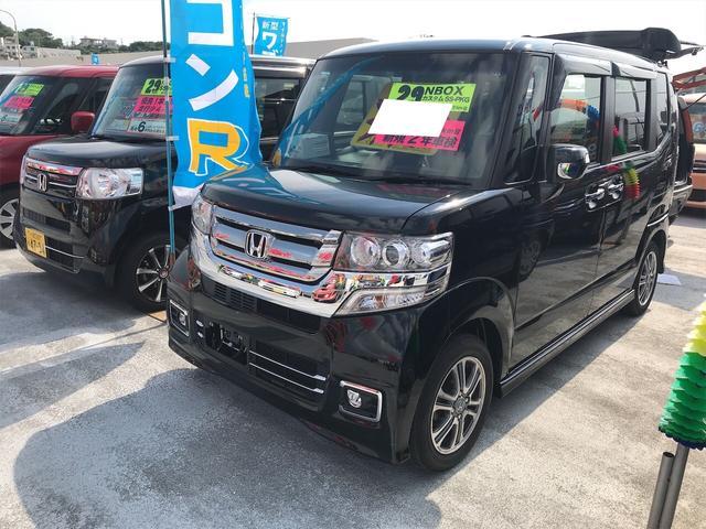 沖縄県の中古車ならN-BOXカスタム G SSパッケージ ナビ 軽自動車 ETC