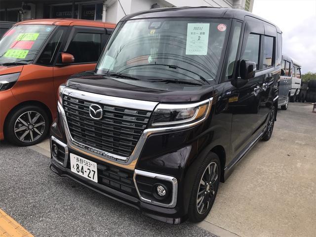 沖縄の中古車 マツダ フレアワゴン 車両価格 179万円 リ済別 2018(平成30)年 0.4万km ブラック