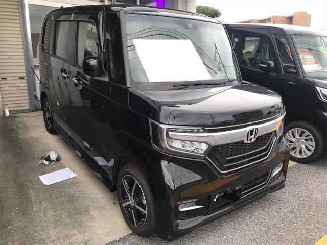 沖縄県の中古車ならN-BOXカスタム 軽自動車 ETC 衝突被害軽減システム ブラック