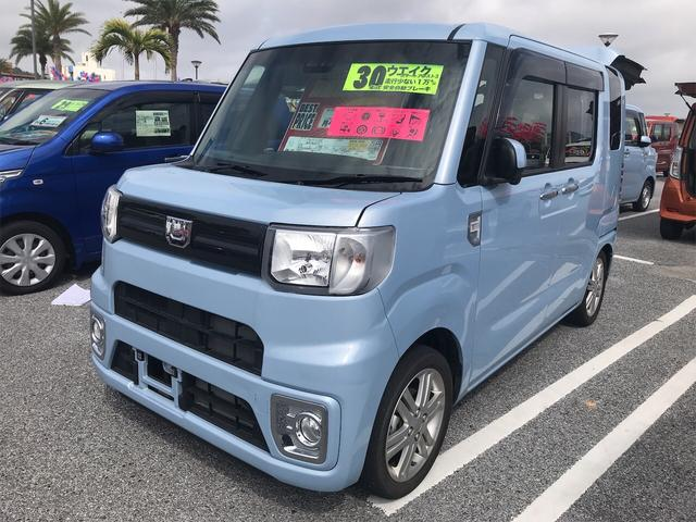 沖縄の中古車 ダイハツ ウェイク 車両価格 139.8万円 リ済別 2018(平成30)年 1.2万km ミストブルーマイカメタリック