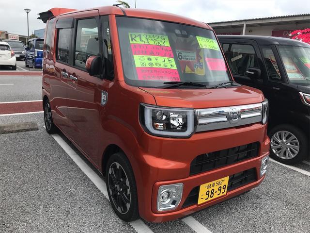 沖縄の中古車 ダイハツ ウェイク 車両価格 179.8万円 リ済別 2019年 0.9万km トニコオレンジメタリック