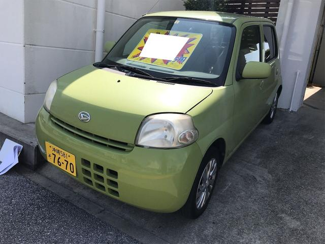 沖縄の中古車 ダイハツ エッセ 車両価格 3.9万円 リ済別 2007(平成19)年 12.7万km リーフグリーン