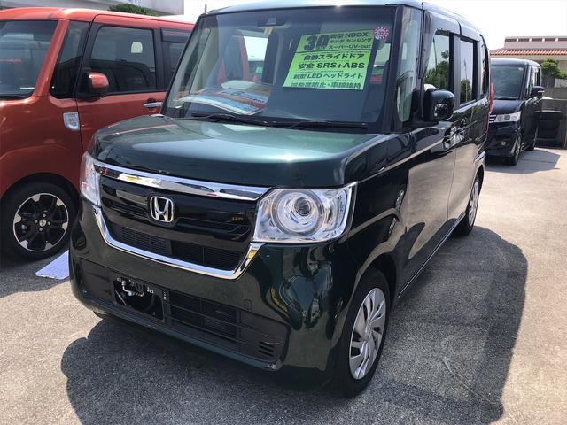 沖縄の中古車 ホンダ N-BOX 車両価格 149.8万円 リ済別 2018(平成30)年 1.5万km ブリティッシュグリーンパール