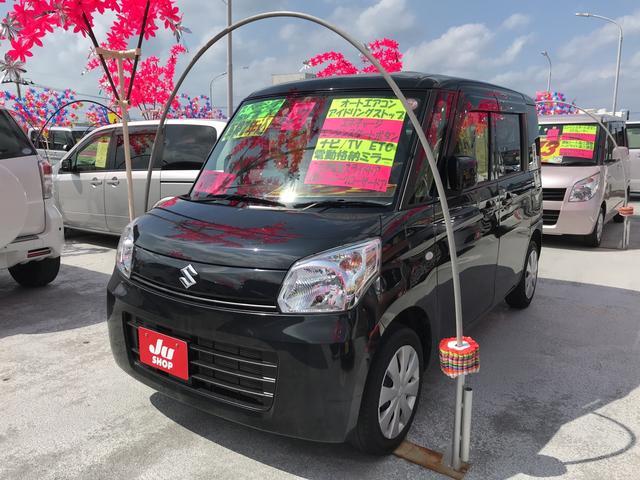 沖縄の中古車 スズキ スペーシア 車両価格 101万円 リ済込 2015(平成27)年 6.1万km ブラック