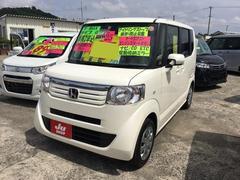 沖縄の中古車 ホンダ N BOX 車両価格 81万円 リ済込 平成25年 8.2万K パールホワイト