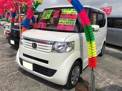 沖縄の中古車 ホンダ N BOX+ 車両価格 95万円 リ済込 平成26年 5.9万K パールホワイト