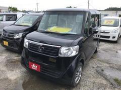 沖縄の中古車 ホンダ N BOX 車両価格 84万円 リ済込 平成25年 7.0万K ブラック