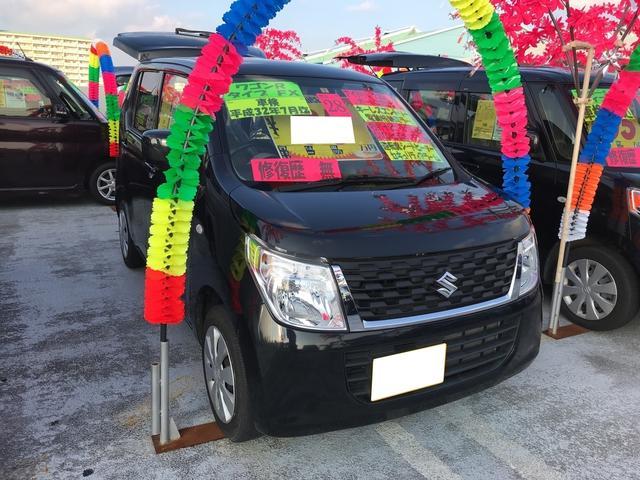 沖縄の中古車 スズキ ワゴンR 車両価格 81万円 リ済込 平成28年 5.4万km ブルーイッシュブラックパール3