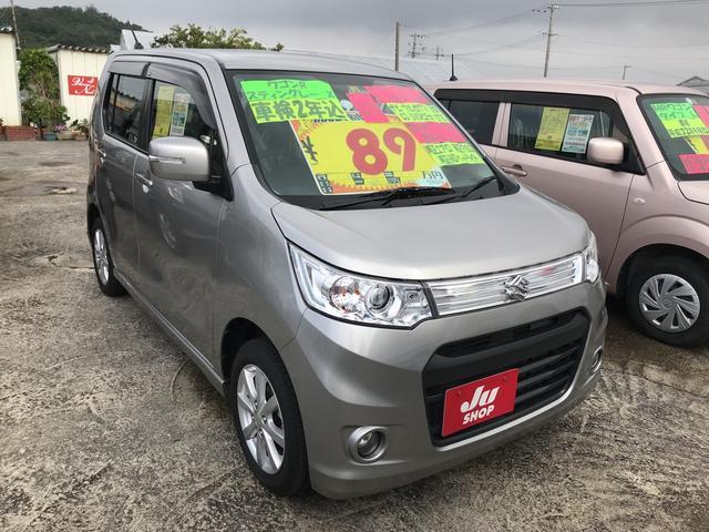沖縄の中古車 スズキ ワゴンRスティングレー 車両価格 85万円 リ済込 平成26年 6.9万km シルバー